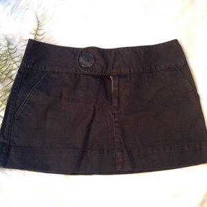 Free People Black Denim Mini Skirt Size 6